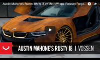 Austin Mahone Rusted BMW i8 by MetroWrapz | Vossen Forged VPS-305T Wheels