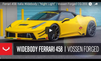 Ferrari 458 Italia Widebody | Night Light | Vossen Forged CG-203